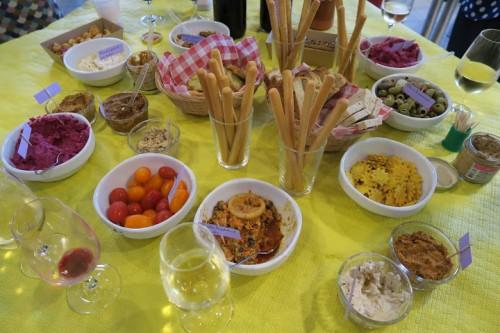 buffet tartinades