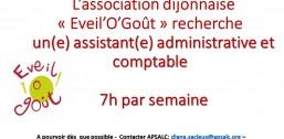 Eveil'O'Goût recrute Assistante Administrative et Comptable TEMPS PARTIEL